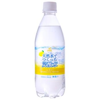 神戸居留地 天然水でつくった炭酸水レモン 500ml